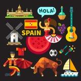 Ilustrações da Espanha Fotografia de Stock Royalty Free