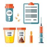 Ilustrações da medicina Medicina e drogas ilustração do vetor