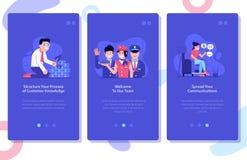 Ilustrações da publicidade online e do mercado UI ilustração royalty free