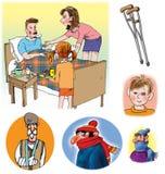 Ilustrações da quadriculação sobre cuidados médicos e medicina Fotos de Stock Royalty Free