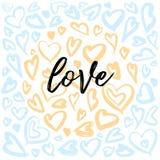 Ilustrações da tinta do coração, corações da estrutura do círculo, fundos dos corações com estilo glam da rocha ilustração do vetor