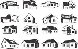Ilustrações das casas Imagens de Stock