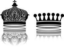 Ilustrações das coroas Fotos de Stock