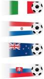 Ilustrações das equipes de futebol Imagens de Stock Royalty Free
