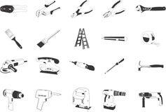 ilustrações das ferramentas Fotografia de Stock Royalty Free