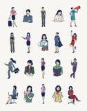 20 ilustrações das mulheres de negócios Imagem de Stock