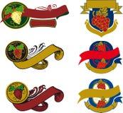 Ilustrações das uvas Ilustração Royalty Free
