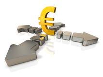 Ilustrações 3DCG abstratas que representam o movimento de econômico Foto de Stock