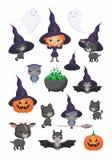 Ilustrações de Dia das Bruxas ajustadas Imagem de Stock
