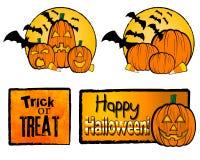 Ilustrações de Halloween Imagens de Stock