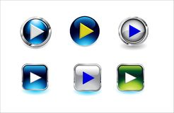 Ilustrações de vidro do vetor do botão ilustração do vetor