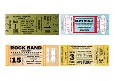 Ilustrações do bilhete do concerto Foto de Stock