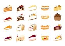 Ilustrações do bolo Imagem de Stock Royalty Free