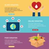 Ilustrações do conceito do vetor da doação A doação de sangue, faz em linha ilustração do vetor