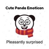 Ilustrações do emoticon da panda isoladas no fundo branco Emoticons das etiquetas da panda dos desenhos animados do caráter de Em Imagem de Stock Royalty Free
