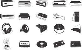 Ilustrações do equipamento de alta fidelidade Fotografia de Stock