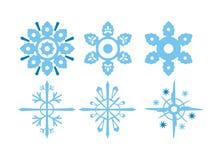 Ilustrações do floco de neve Fotos de Stock