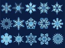 Ilustrações do floco de neve ilustração royalty free