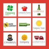 Ilustrações do logotipo da companhia Imagem de Stock