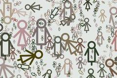 Ilustrações do sinal de masculino ou de fêmea Repetição, superfície, decoração & detalhes ilustração do vetor