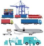 Ilustrações do transporte e da carga Fotografia de Stock