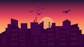 Ilustrações do vectro da cidade ilustração stock