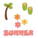 Ilustrações do verão do divertimento ilustração stock