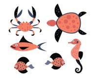 Ilustrações do vetor da criatura do mar ilustração do vetor