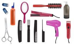 Ilustrações do vetor do cabeleireiro Fotos de Stock