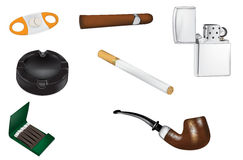 Ilustrações do vetor do fumo e do tabaco Imagem de Stock