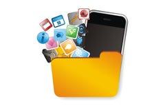 Ilustrações dos apps dos meios Imagens de Stock