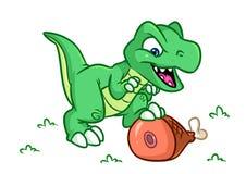 Ilustrações dos desenhos animados do Tyrannosaur do dinossauro Fotos de Stock Royalty Free