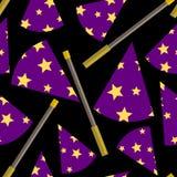 Ilustrações mágicas do fundo da mostra Fotografia de Stock Royalty Free