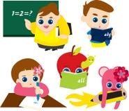 Ilustrações prées-escolar Foto de Stock Royalty Free
