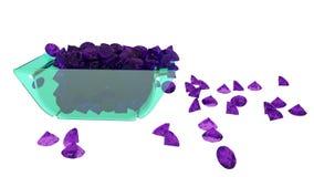 Ilustrações textura dos diamantes 3D, fundo Foto de Stock