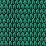 Ilustrações verdes frescas do teste padrão da folha ilustração royalty free