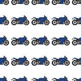 Ilustra??o de um teste padr?o da motocicleta ilustração stock