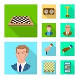 Ilustra??o do vetor do checkmate e do ?cone fino Ajuste da ilustra??o do vetor do estoque do checkmate e do alvo ilustração royalty free