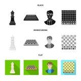 Ilustra??o do vetor do checkmate e do logotipo fino Ajuste do ?cone do vetor do checkmate e do alvo para o estoque ilustração stock
