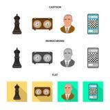 Ilustra??o do vetor do checkmate e do logotipo fino Ajuste da ilustra??o do vetor do estoque do checkmate e do alvo ilustração stock