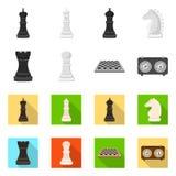 Ilustra??o do vetor do checkmate e do logotipo fino Ajuste da ilustra??o do vetor do estoque do checkmate e do alvo ilustração do vetor