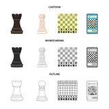 Ilustra??o do vetor do checkmate e do logotipo fino Cole??o da ilustra??o do vetor do estoque do checkmate e do alvo ilustração royalty free