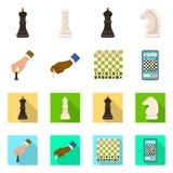 Ilustra??o do vetor do checkmate e do s?mbolo fino Cole??o do s?mbolo de a??es do checkmate e do alvo para a Web ilustração royalty free