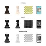 Ilustra??o do vetor do checkmate e do sinal fino Cole??o do ?cone do vetor do checkmate e do alvo para o estoque ilustração stock