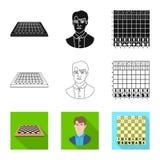 Ilustra??o do vetor do checkmate e do sinal fino Cole??o do ?cone do vetor do checkmate e do alvo para o estoque ilustração royalty free