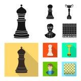 Ilustra??o do vetor do checkmate e do sinal fino Cole??o do s?mbolo de a??es do checkmate e do alvo para a Web ilustração royalty free