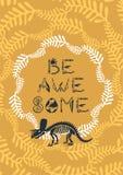 Ilustra??o dos dinossauros do vetor O cartaz de Dino dos desenhos animados seja incrédulo alguns ilustração royalty free