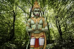 Ilustra??o hindu de Hanuman do deus foto de stock royalty free