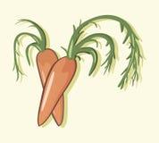 Ilustra??o simples do vetor com capacidade para mudar Ilustração de duas cenouras ilustração do vetor
