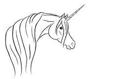 Ilustración árabe estilizada del vector del unicornio Foto de archivo libre de regalías